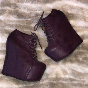 Jeffrey Campbell 99 Tie Leather Heels